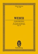 Carl Maria von Weber - Concertino for Klarinette Es-Dur op. 26 - Partitur - Sheet Music - di-arezzo.co.uk
