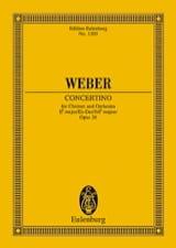 Carl Maria von Weber - Concertino für Klarinette Es-Dur op. 26 – Partitur - Partition - di-arezzo.fr