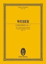 Carl Maria von Weber - Klarinetten-Konzert Nr. 1 f-moll - Partition - di-arezzo.fr