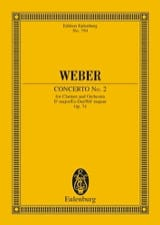 Carl Maria von Weber - Klarinetten-Konzert Nr. 2 Es-Dur - Sheet Music - di-arezzo.co.uk