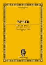 Carl Maria von Weber - Klarinetten-Konzert Nr. 2 Es-Dur - Partition - di-arezzo.fr