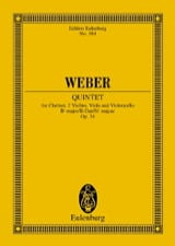 Carl Maria von Weber - Quintet in Bb Major Op. 34 - Sheet Music - di-arezzo.co.uk