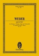 Carl Maria von Weber - Quintette en Sib Majeur Op. 34 - Partition - di-arezzo.fr