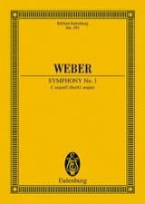 Carl Maria von Weber - Sinfonie Nr. 1 C-Dur - Partition - di-arezzo.fr