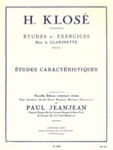 Hyacinthe Klosé - Etudes caractéristiques - Partition - di-arezzo.fr