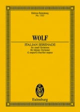Hugo Wolf - Italienische Serenade G-Dur –Partitur - Partition - di-arezzo.fr