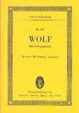 Streich-Quartett D-Moll Hugo Wolf Partition laflutedepan.com