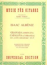 Isaac Albeniz - Granada (Serenata) / Cataluna (Curranda) -2 Gitarren - Partition - di-arezzo.fr