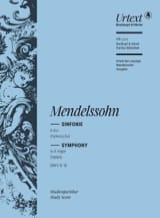 Symphonie n° 4, op. 90 MENDELSSOHN Partition laflutedepan.com