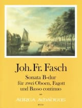 Sonate en Sib Majeur Johann Friedrich Fasch Partition laflutedepan.com