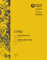 Suite Holberg, op. 40 Edvard Grieg Partition laflutedepan.com