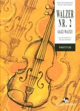 Valse n° 2 Valse-Jazz CHOSTAKOVITCH Partition laflutedepan.com