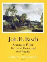 Sonate en Fa Majeur Johann Friedrich Fasch Partition laflutedepan.com