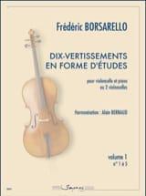 Frédéric Borsarello - Dix-Vertissements en Forme d'Etudes Vol. 1 - Partition - di-arezzo.fr