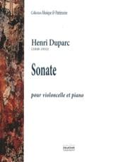 Sonate pour Violoncelle Henri Duparc Partition laflutedepan.com