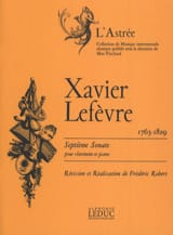 Xavier Lefèvre - Sonata No. 7 for clarinet - Sheet Music - di-arezzo.com