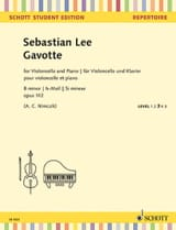 Gavotte - Violoncelle et Piano - Sebastian Lee - laflutedepan.com