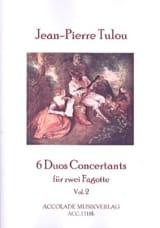Jean-Pierre Tulou - 6 Duos Concertants Vol. 2 - Partition - di-arezzo.fr