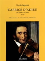 Niccolò Paganini - Caprice d'Adieu - Violin - Sheet Music - di-arezzo.co.uk