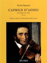 Niccolò Paganini - Caprice d'Adieu - Violín - Partitura - di-arezzo.es