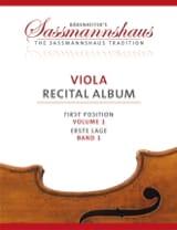 sassmannshaus - Viola Recital Album - Volume 1 - Partition - di-arezzo.fr