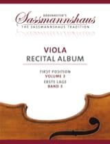 sassmannshaus - Viola Recital Album - Volume 3 - Partition - di-arezzo.fr