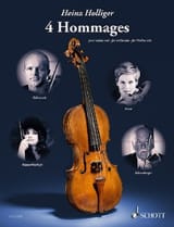 Heinz Holliger - 4 Hommages - Violon solo - Partition - di-arezzo.fr