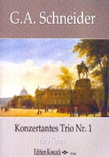 Trio Concertant n° 1 Georg Abraham Schneider laflutedepan.com
