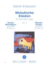 Ramin Entezami - Etudes Mélodiques Vol. 3 - Alto - Partition - di-arezzo.fr