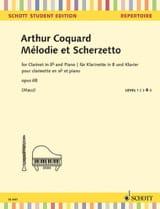 Arthur Coquard - Melody and Scherzetto - Clarinet and Piano - Sheet Music - di-arezzo.co.uk