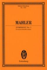 Symphonie n° 3 - Conducteur Gustav Mahler Partition laflutedepan.com