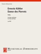 La Danse des Pierrots, op. 88/4 Ernesto Koehler laflutedepan.com