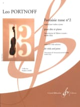 Leo Portnoff - Russian Fantasy No. 2 - Sheet Music - di-arezzo.com