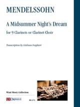 Le songe d'une nuit d'été MENDELSSOHN Partition laflutedepan.com