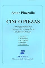 Astor Piazzolla - Cinco Piezas - Sheet Music - di-arezzo.co.uk