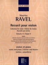 Recueil pour Violon - Volume 2 Maurice Ravel laflutedepan.com