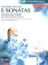 Antonio Vivaldi - 5 Sonatas - Violin and BC - Sheet Music - di-arezzo.com
