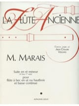 Marin Marais - Suite in D minor - Recorder or Oboe and Bc - Sheet Music - di-arezzo.com