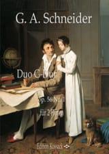 Duo, op. 56 n° 1 - 2 Flûtes Georg Abraham Schneider laflutedepan.com