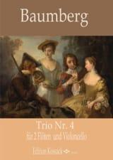 J. C. Baumberg - Trio n° 4 - 2 Flûtes et Violoncelle - Partition - di-arezzo.fr