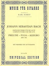 Prelude - Fuga - Allegro BWV 998 –Gitarre BACH laflutedepan.com