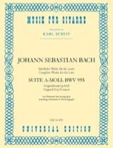 Suite a-moll BWV 995 –Gitarre BACH Partition laflutedepan.com