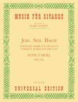BACH - Suite E-Moll BWV 996 - Guitare - Partition - di-arezzo.fr