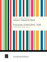 Johann Sebastian Bach - Triosonate d-moll (Ré Min.) - 2 Flöten - BC - Partition - di-arezzo.fr