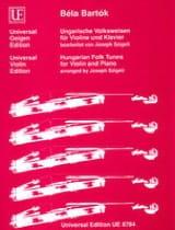 Béla Bartok - Ungarische Volksweisen für Violine und Klavier - Partition - di-arezzo.fr