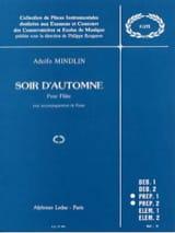 Soir d'automne Adolfo Mindlin Partition laflutedepan.com
