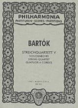 Quatuor à cordes n° 5 -Score Béla Bartok Partition laflutedepan.com