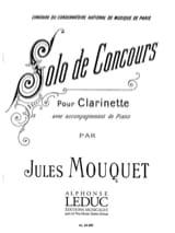 Solo de concours Jules Mouquet Partition Clarinette - laflutedepan.com