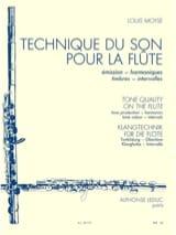 Technique du son pour la flûte Louis Moyse Partition laflutedepan
