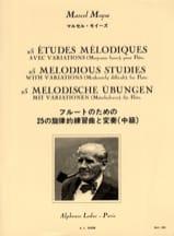 25 Etudes mélodiques - Flûte Marcel Moyse Partition laflutedepan.com